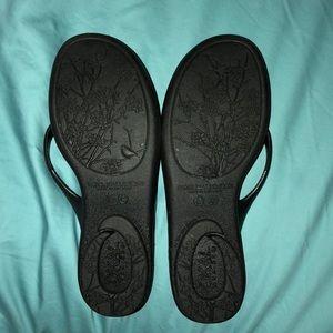 7dd3ec402b1569 Shoes - Oka B Black Flip Flops (Chloe Style)